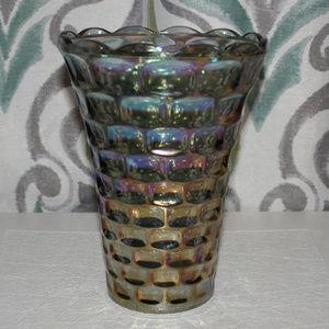 Stunning Iridescent Thumbprint Vase